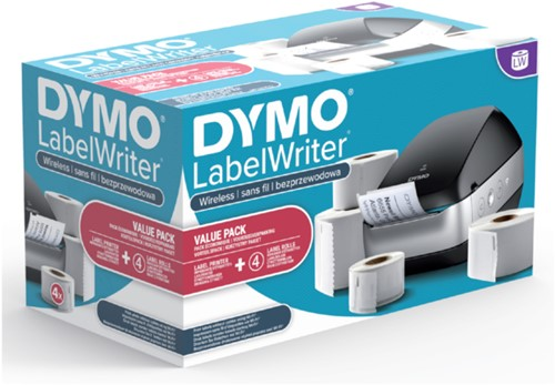 Labelprinter Dymo Labelwriter Wireless zwart promotieset.