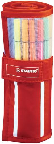 Fineliner Stabilo Pen 68 rood rollerset 30 kleuren.