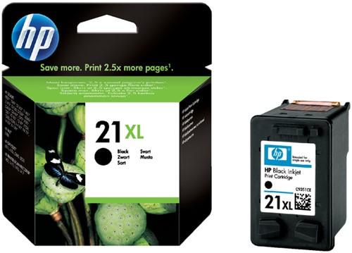 Inktcartridge HP C9351CE 21XL zwart HC.