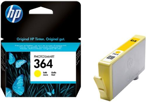 Inktcartridge HP CB320EE 364 geel.