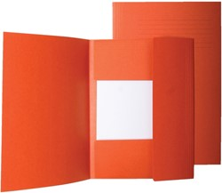 Dossiermap 3-kleps Quantore folio 320 grams karton oranje. Afname per 10 stuks.