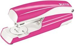 Nietmachine Leitz 5502 WOW 30 vel 24/6 roze.
