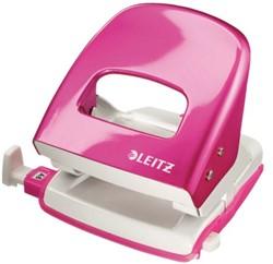 Perforator Leitz 5008 WOW 2-gaats 30 vel roze.