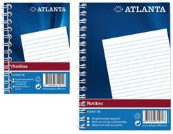 Notitieboek Atlanta 10,3 x 7,4cm spiraalgebonden stevige kaft - 48 vel gelijnd papier 2206026000.
