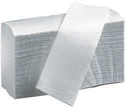 Handdoek PrimeSource Maxi I-vouw 2-laags 23x25cm wit 20x150 stuks.