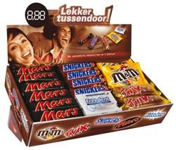 Candy box 15xMars-15xSnickers-8xTwix-6xMM-7xFreedent.