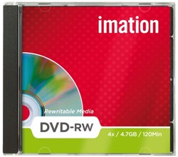 DVD-RW Imation 4x 4.7GB. Afname per 10 stuks.