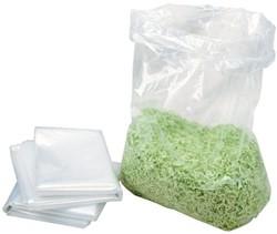 Opvangzakken plastic 148 liter voor HSM papiervernietigers - verpakt per 10 stuks.