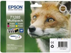 Inkcartridge Epson T128540 zwart+3 kleuren