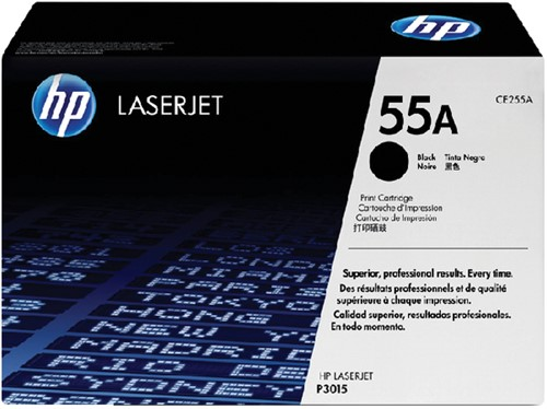 Toner HP CE255A 55A zwart.