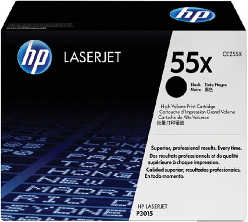 Toner HP CE255X 55X zwart HC.