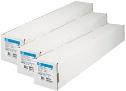 Plotterpapier HP C6035A 610mmx45,7m 90 grams helder wit.
