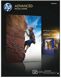 Fotopapier HP 13x18cm glossy 250 grams 25 vel (Q8696A ).