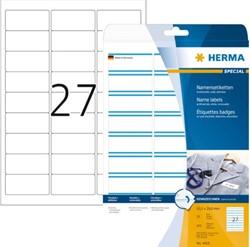Naambadge etiket Herma 4419 bedrukbaar 63.5x29.6mm 675 stuks.