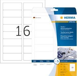 Naambadge etiket Herma 4420 88.9x33.8mm 400 stuks wit.