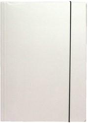 Elastomap 3-kleps Biella folio karton wit.