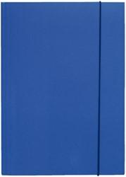 Elastomap 3-kleps Biella folio karton blauw.