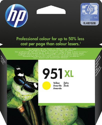 Inktcartridge HP CN048AE 951XL geel HC.
