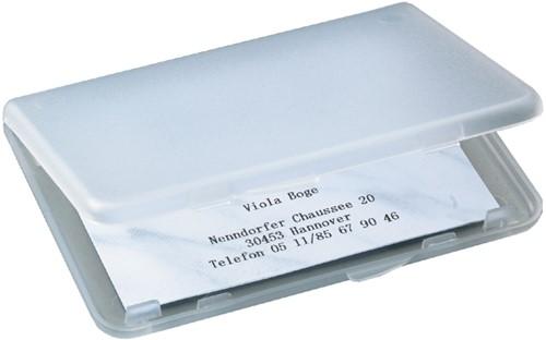 Visitekaartenhouder Sigel VA140 kunststof transparant 58x90mm maximaal 15 visitekaarten (106283).