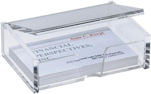 Visitekaartenbak Sigel VA112 90x55mm glashelder (106279).