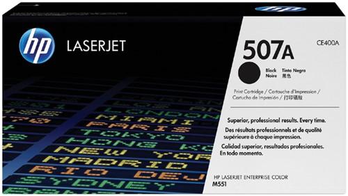 Toner HP CE400A 507A zwart.