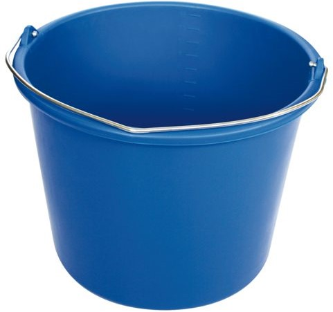 Emmer blauw kunststof 12 liter.