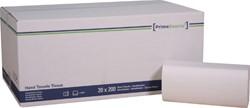 Handdoek PrimeSource Midi zigzag 2-laags 23x25cm wit 20x200 stuks.