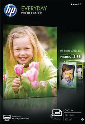 Inkjetpapier HP CR757A 10x15cm photo glossy 200 grams 100 vel.