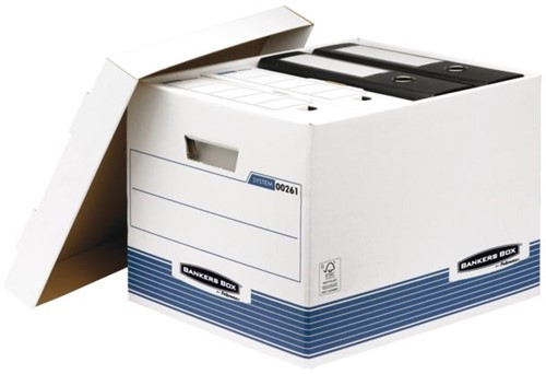 Archiefdoos Bankers Box system standaard 333x285x390mm.