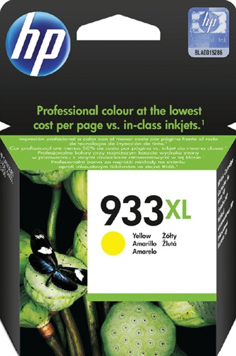 Inktcartridge HP CN056AE 933XL geel HC.