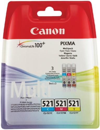 Inktcartridge Canon CLI-521 3 kleurenset.