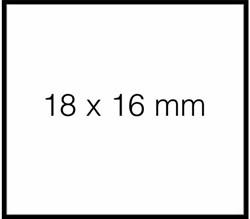 Prijsetiket 16x18mm Sato Duo 16 permanent wit 1.500 etiketten.