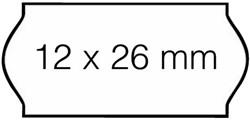 Prijsetiket 26x12mm Sato Samark afneembaar wit 1.500 etiketten.