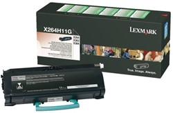 Toner Lexmark X264H11G zwart.