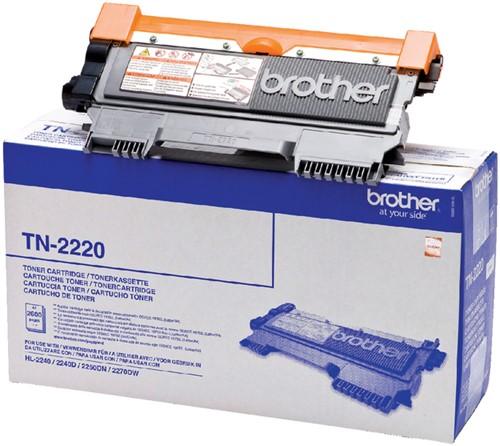 Toner Brother TN-2220 zwart HC.