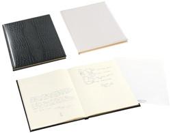 Gastenboek Brepols Belleganza 23,5 x 29,7cm kunstleder omslag met croco nerf in de kleur zwart.