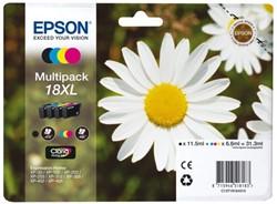 Inkcartridge Epson T181640 zwart+3 kleuren