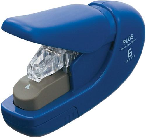 Nietmachine Plus nieten zonder nietjes blauw cap. 5 vellen.
