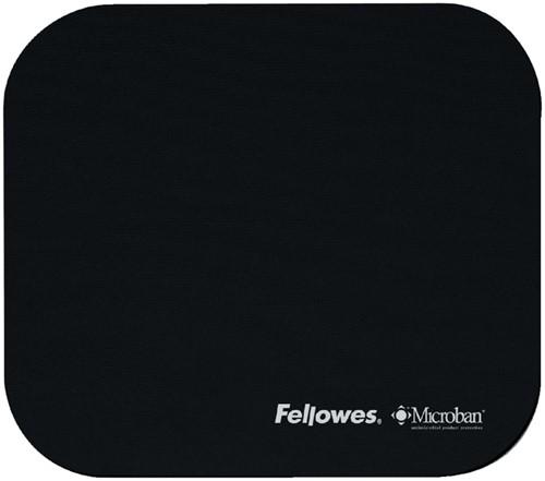 Muismat Fellowes microban anti-bacterieel zwart.