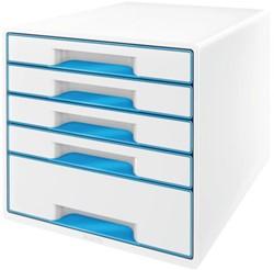 Ladenbox Leitz 5214 WOW 5 laden wit/blauw,