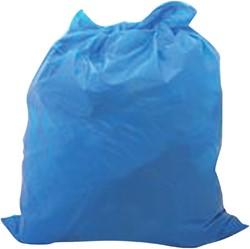 Afvalzak HDPE 70x110cm blauw 110 liter 500 stuks.