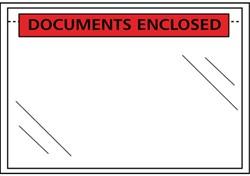 Paklijst envelop C5 230x157mm met opdruk documents enclosed 100 stuks.