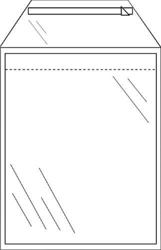 Akte envelop CleverPack A4 220x300mm zelfklevend transparant 50 stuks.