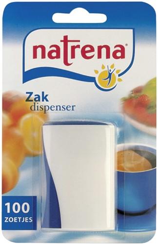 Zoetjes Natrena zakdispenser met 100 stuks.