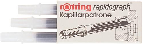 Inktpatroon Rotring kapillair 590517 zwart.