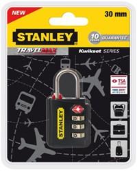 Reisslot Stanley 3 cijferige code 30mm.