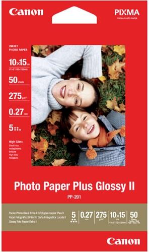 Inkjetpapier Canon PP-201 10x15cm 260gr glans 50 vel.