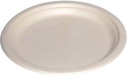 Bord biologisch afbreekbaar karton 220mm wit 500 stuks.