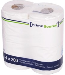 Toiletpapier PrimeSource Duo 2-laags 200 vel 48r ollen.