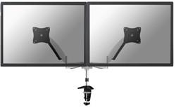Monitor arm Newstar D950D 2 schermen maximaal 27 inch kleur zilvergrijs.